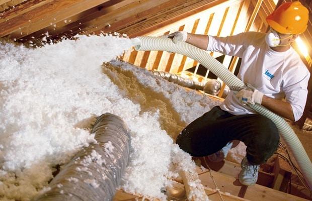 laine de verre isolation arrosée loft